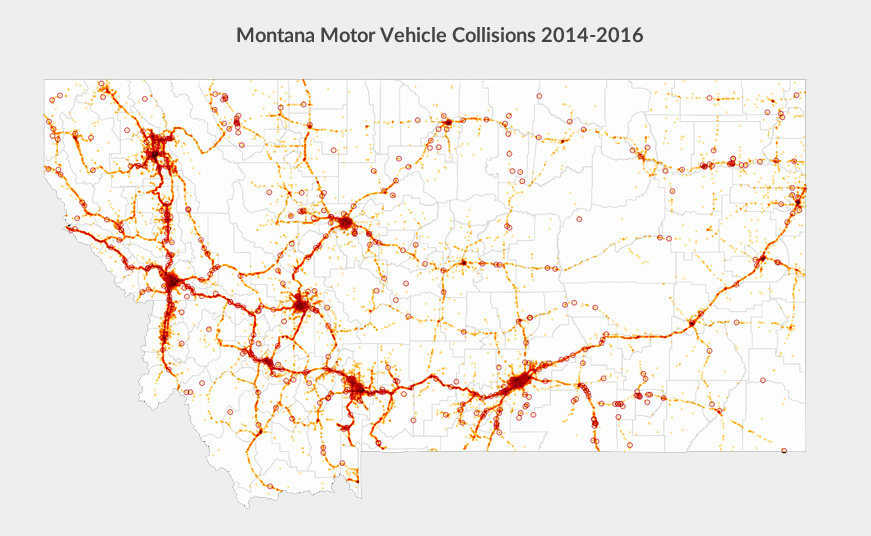 Montana accidents map